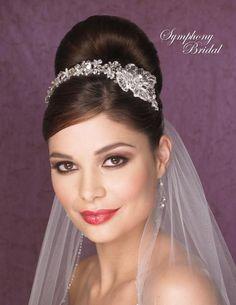 Symphony Bridal 7100CR Side Accent Wedding Headband - beautiful!