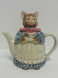 Vintage Otagiri Cat Kitten Tea Pot