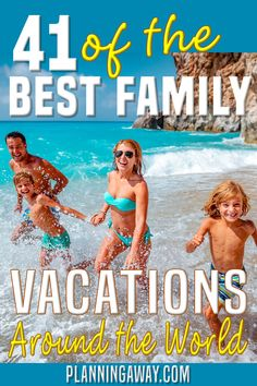 Let's explore a few options in the United States as well as some international locations for those of you who are up for an adventure! Check out these 41 Ultimate Family Vacation Destinations! If you are like me, I tend to dream and start planning vacations years in advance. I already have a trip to Hawaii and a summer in Europe planned before my oldest graduates high school (I have 5 years left). | Planning Away @planningaway #familyvacation #dreamvacation #vacationplanning #planningaway Best Family Vacation Spots, Utah Vacation, Family Resorts, Family Vacation Destinations, Family Road Trips, Great Vacations, Cruise Vacation, California Vacation, Beach Vacations