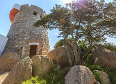 Entire home/flat in Santa Teresa di Gallura, Italy. Romantic old Tower on the Sea, in the splendid aria of Capo Testa in Santa Teresa. Enjoy the breathtaking super 360 grade view from the roof of the. Sardinia, Lighthouse, Monument Valley, Places To Go, Tower, Santa, Romantic, Holiday, Travel