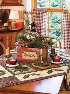 Christmas table center piece <3