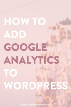 In this tutorial I'll show you how to set up Google Analytics on your WordPress blog. This method makes adding Google Analytics to your blog a breeze.