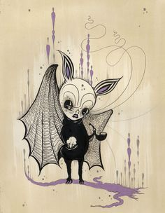 Bat by Camille Rose Garcia.