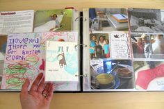 Really cute idea to preserve little drawings, and memorable things in a binder for them to look back on when their older!