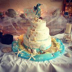 WEDDING CAKE~BEACH THEME made by my daughter Emily Lauren F.   mlf:)