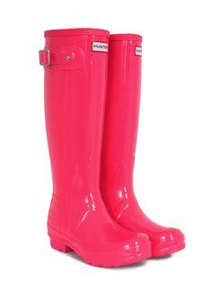 Pink hunter wellies
