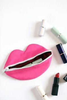 Image result for diy dvf lips bag