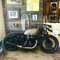 -Mocha Cafe Racer- More Shared by Motorcycle Fairings - Motocc Cb350 Cafe Racer, Cafe Racer Honda, Cafe Racers, Cb750 Cafe, Inazuma Cafe Racer, Cafe Bike, Cafe Racer Build, Street Scrambler, Brat Bike