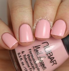 Nubar 'Cover Girl' (POP Collection Spring 2015) ~ light pink crème ~ perfect formula 3 coats ~ 5-free and vegan ~ Swatch by The Nail Polish Challenge