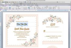 Free Delicate Floral Wedding Invitation Suite | The Budget Savvy Bride