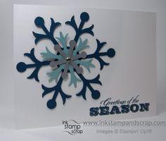 Linda's CAS card showcases the wonderful Snow Flurry die and Greetings of the Season set.