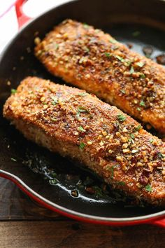 StyleCaster | Meals That Help Fight Iron Deficiency | Pecan-Crusted Salmon With Lemon Glaze