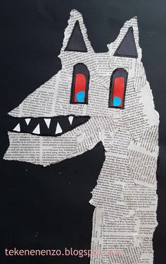 Painting Collage, Painting For Kids, Collage Art, Collages, Art For Kids, Newspaper Cartoons, Newspaper Art, Monster Co, Ecole Art