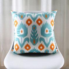 Moroccan Tile Pattern Art Cushion Covers Nordic Light Blue Geometric Chevron Stripes Floral Pillow Cover Sofa Velvet Pillow Case