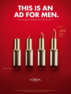 Werbekampagne LOral Ad - The new LOral ad is rooted in female empowerment a marketing approach that has been growing in popularity parallel to the mo. Clever Advertising, Advertising Poster, Advertising Campaign, Advertising Design, Banks Advertising, Social Campaign, Bonnie Strange, Worth It, Performance Artistique
