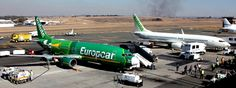 2 Kululas at Lanseria Airport Europcar branded) Mango Airlines, Voucher System, Airline Flights, Airports, Cape Town, Transportation, Aircraft, African, Travel
