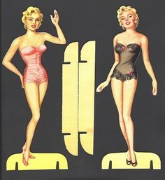 MARILYN MONROE PAPER DOLLS 1953 GORGEOUS DOLLS AND CLOTHES