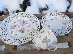 Vintage Sammeltassen - durch die Blume Sammeltasse Sammelgedeck Lindau - ein Designerstück von artdecoundso bei DaWanda
