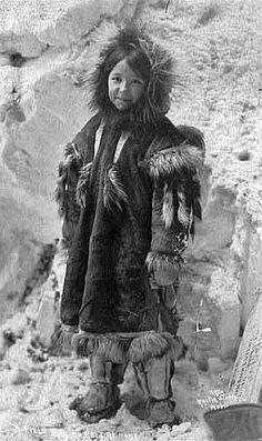 Inuit girl near Nome, Alaska - circa 1920.