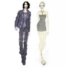 IDEALIST STYLE, Fashion Illustration, design, fashion designer, futuristic, retro, fairytale.