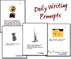 teachers corner writing prompts Daily writing prompts below are daily  writing prompts for the month of may.