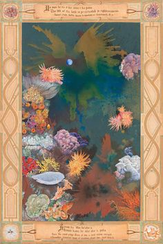 This painting symbolizes the single magical night of each month orchestrated by the full moon, when the corals spawn. This is a prayer for the perpetuation of righteousness in our care of the ocean's reefs for all time for all generations. The key in conserving the remaining reefs and allowing them to rejuvenate is awareness. Awareness and…love.