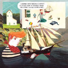 Martín, de grumete a capitán Arianna Squilloni / David de las Heras Publishing house: THULE 20X20 / 40pp  Martín, de grumete a capitán is a comic for children from the Isla Flotante collection by the publishing house Thule.