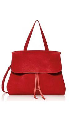 Mansur Gavriel Fall/Winter 2016 - Lady Bag in Red Suede - pre-order now on Moda Operandi!