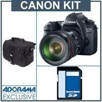 Canon EOS-6D Digital SLR Camera Kit with Canon EF 24-105mm f/4L IS USM Lens - Bundle - with 32GB SDHC Class 10 Memory Card, Adorama Slinger Photo Video Bag by Canon. $2899.01. The Canon EOS 6D DSLR camera is the ideal tool for unlocking your creative vision. It features a 20.2 Megapixel Full-Frame CMOS sensor, a wide ISO range of 100-25600, expandable to L: 50, H1: 51200, and H2: 102400, for incredible image quality even in low light, and a DIGIC 5+ Image Processor delivers enh...