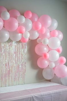 A super easy balloon garland DIY! Two inexpensive must have items to make your balloon garland stress free! Balloon garlands make any backdrop pop with dimension and color, and are my favorite things to put up for any party. Balloon Backdrop, Balloon Centerpieces, Balloon Columns, Balloon Garland, Balloon Decorations, Birthday Party Decorations, Birthday Parties, Themed Parties, Birthday Week