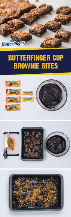 What could be better than a rich, fudgy brownie? How about the crispety, crunchety, peanut-buttery taste of these Butterfinger Cup Brownie Bites? Combine store-bought brownie mix with BUTTERFINGER® Peanut Butter Cups and BUTTERFINGER® Fun Size candy bars to create a bite-sized dessert recipe that's double the fun. Check out this article to learn more.