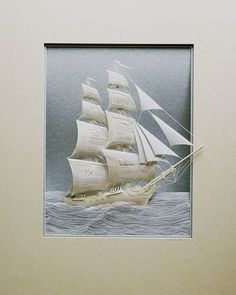 "*Paper Sculpture - ""Ship"" by Calvin Nicholls"