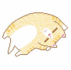 40 Super Cute Animated Cat Kawaii Pixel Art Gifs - Best Animations