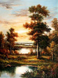 Paisaje pintado Fantasy Art Landscapes, Landscape Drawings, Fantasy Landscape, Landscape Art, Landscape Paintings, Bob Ross Paintings, Modern Art Paintings, Beautiful Landscape Wallpaper, Beautiful Landscapes