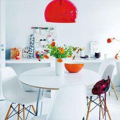 Kitchen- white + colors