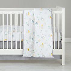galaxy dove percale crib skirt | a dreamy night sky inspires