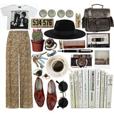 """r a n d o m ."" by hippierose on Polyvore"