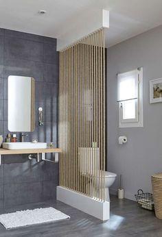 cloison cordes separation salle de bains wc