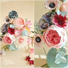 5Christine paper design - paper flowers centerpiece3