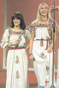 frida and agnetha fltskog abba abba appeared on the don lane show when they visited australia in march 1976 and again via satellite in 1977 before