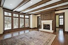 Great room with lots walnut millwork