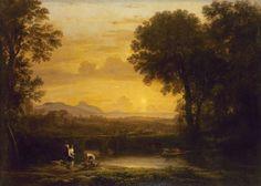 Claude Gellée (dit Le Lorrain; ca. 1602–1682), Landschap met Tobias en de engel, 1663, olieverf op doek © State Hermitage Museum, St Petersburg