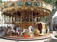 carousel in Avignon, France.. Rode while indulging in the best gelato ever!