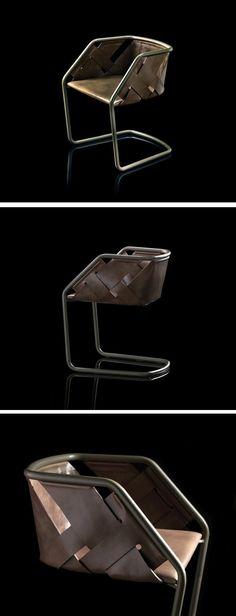 """Classique, sublime et so chic! L'architecte et designer, Massimo Castagna, a dessiné et réalisé cette chaise nommée """"Strip"""". Élégante, elle est intégraleme"""