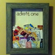Fun way to memorialize all those ticket stubs. I actually want to do this..?
