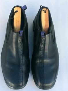 d8644edfa58 Cole Haan G Series Mens BLACK Leather LOAFERS   SLIP ONS~SHOES 11.5 M