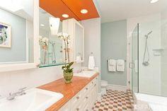 Cool bathroom colors #bathroom #orange