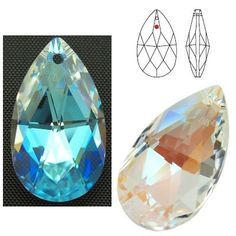 STRASS Swarovski 8721 Pear Shape 28mm Crystal Blue AB  Dimensions: 28,0 mm Colour: Crystal Blue AB 1 package = 1 piece