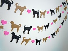 Labradoodle Love Paper Garland Choose Your Colors by HookedonArtsNCrafts via Etsy.