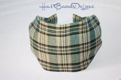 Green Wide Headband Green Indian cotton Headband  Girl